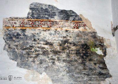 Resto de pinceladura en la bóveda