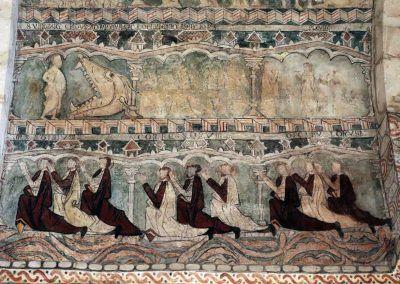 Descenso a los infiernos, Ascensión, Pentecostés y orantes.