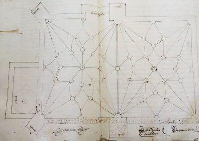 Pedro de Elosu, Traza de la iglesia de Villafranca, AHPA. Prot. Not. 6.201, 1574.